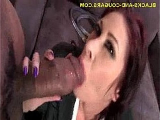 black   cougar   sucking