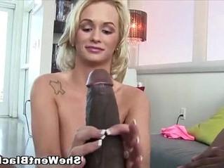 babe  black cock  blonde