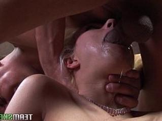 cock  cum on tits  gagging