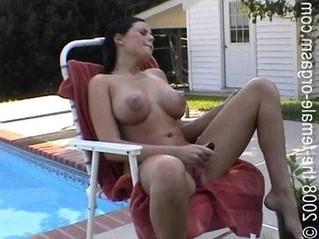 big tits  orgasm  pool