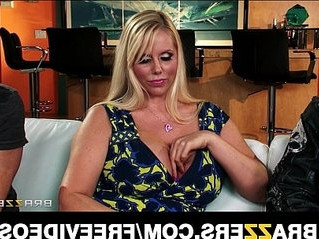blonde  couch  huge tits