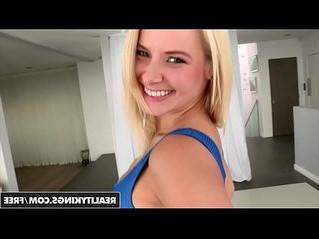 blonde  huge tits  kitchen