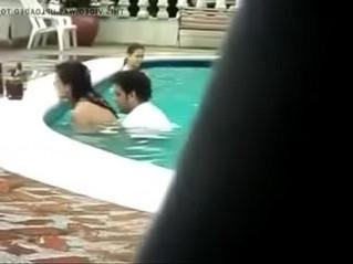 aunty  horny  pool